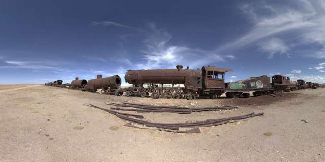 Train's Cemetary in Uyuni