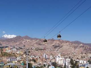 La Paz and its cable cars